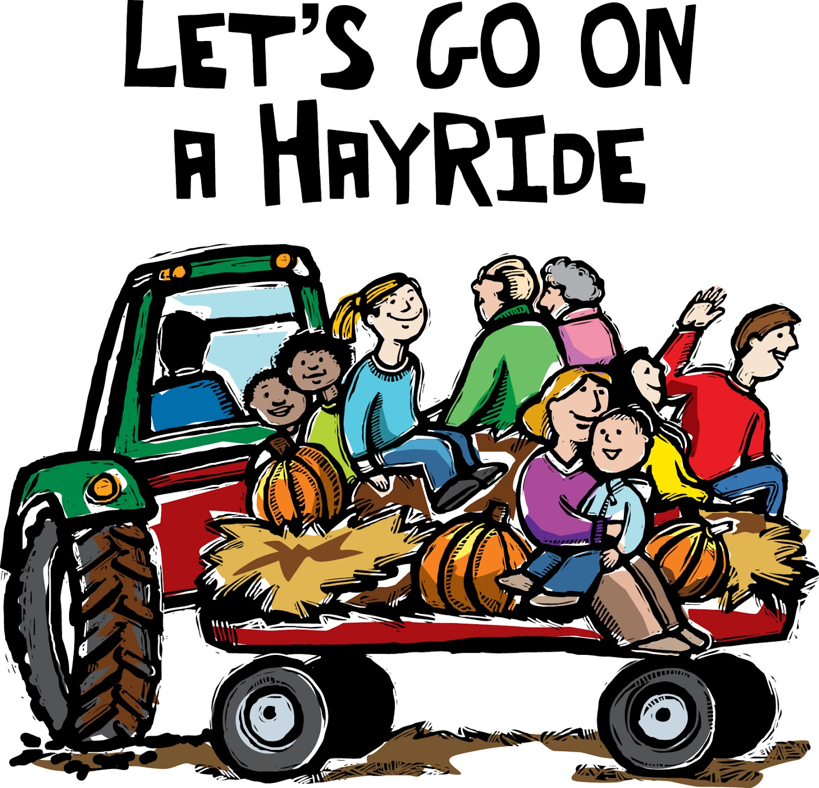 Hay Wagon Clipart - Clipart Suggest |Hayride Wagon Clipart