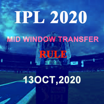 IPL 2020: Mid transfer window rules will be applicable from October 13, many big players will change teams