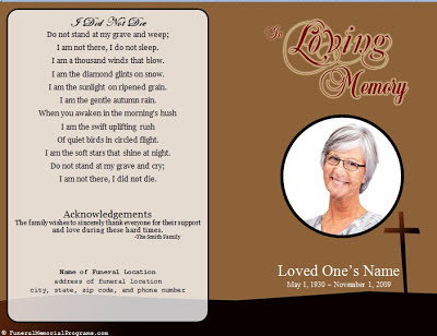 Free Funeral Program Template Sample Service – Free Memorial Program Template
