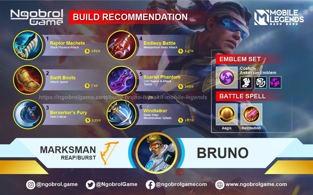 Build Bruno Savage Mobile Legends
