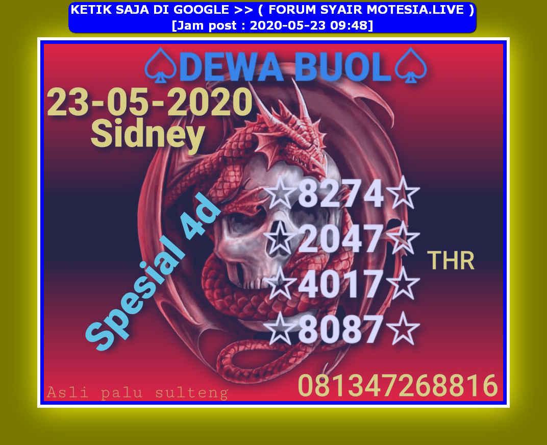 Kode syair Sydney Sabtu 23 Mei 2020 45