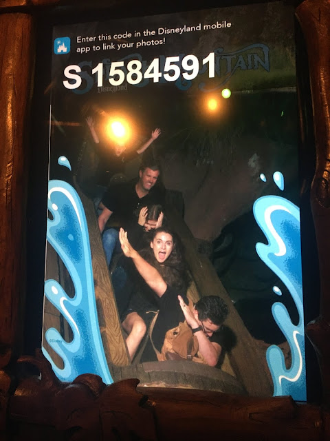 Jesse dabbing on Splash Mountain