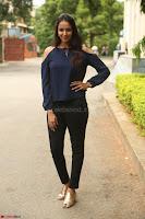Poojita Super Cute Smile in Blue Top black Trousers at Darsakudu press meet ~ Celebrities Galleries 016.JPG