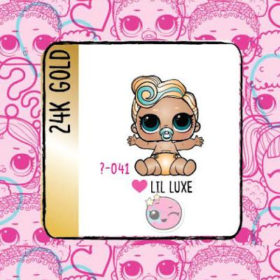 Золотая куколка L.O.L. Eye Spy Lil Sisters