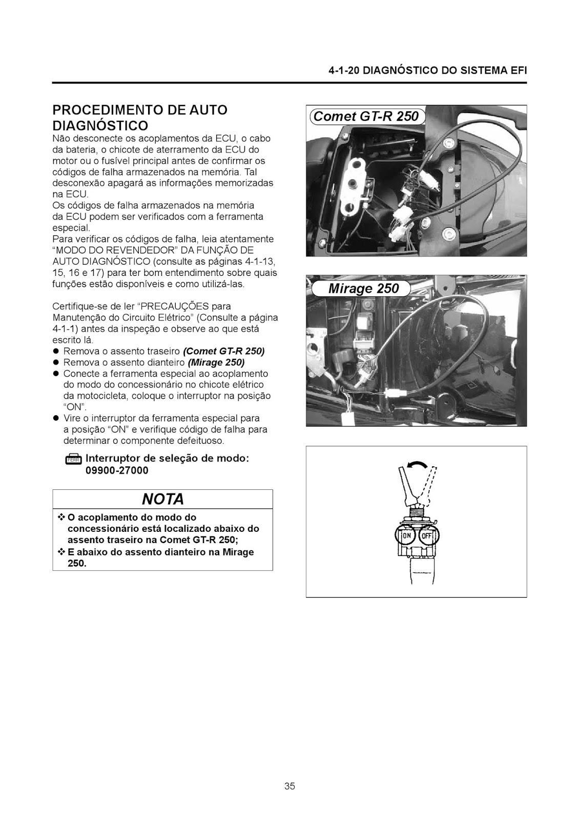 MANUAIS DO PROPRIETÁRIO GRÁTIS: MANUAL DE SERVIÇO KASINSKI