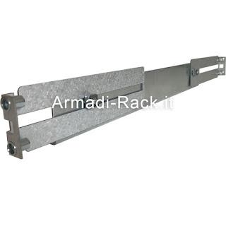 coppia guide fissaggio rack 19 pollici per montaggio mensola ad Lin armadio rack