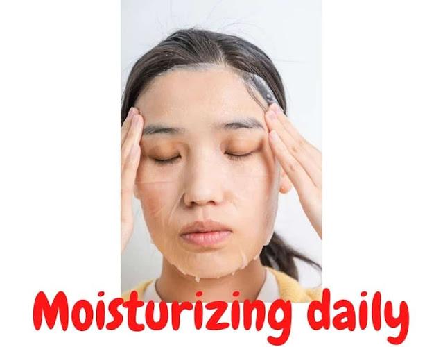 Moisturizing face