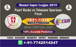 Cricfrog Cricket match prediction 100 sure MSL 2019 Final Who Will win today Tshwane vs Paarls Final Match Ball to ball by prediction all match