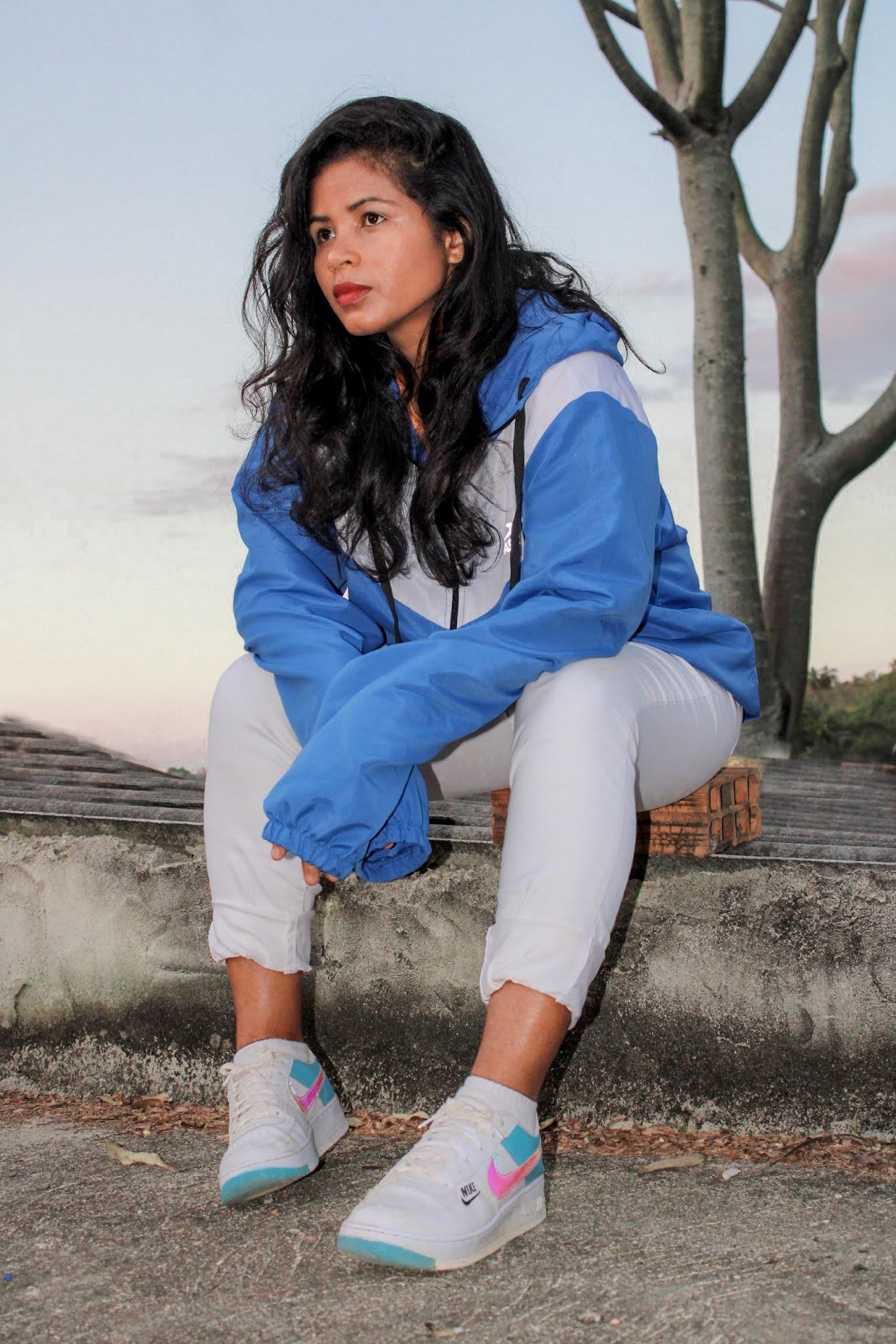 Jaqueta Treino Candy  -  Blue -  Uma alternativa super confortável !