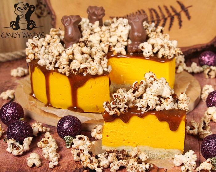 Sernik dyniowy z cynamonowym popcornem (bez glutenu)