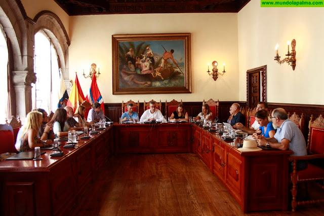 El Ayuntamiento de Santa Cruz de La Palma celebra este martes el pleno de la municipalidad
