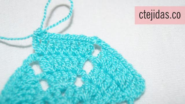Granny Flor de Cerezo a Crochet