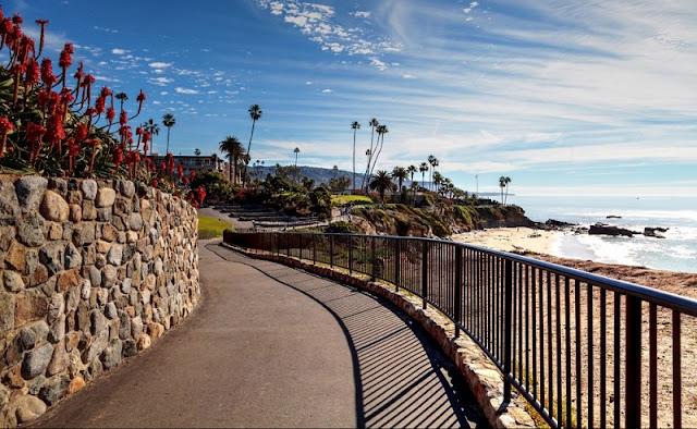 Passeio pelo Heisler Park em Laguna Beach na Califórnia