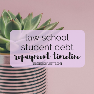 Law School Student Loan Debt Repayment Plan Timeline | brazenandbrunette.com