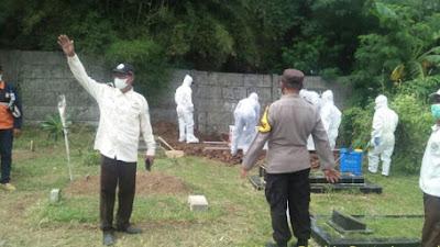Polres Karawang Pengamanan dan Monitoring Pemakaman Jenazah Pasien di Duga Terpapar Positif Covid 19