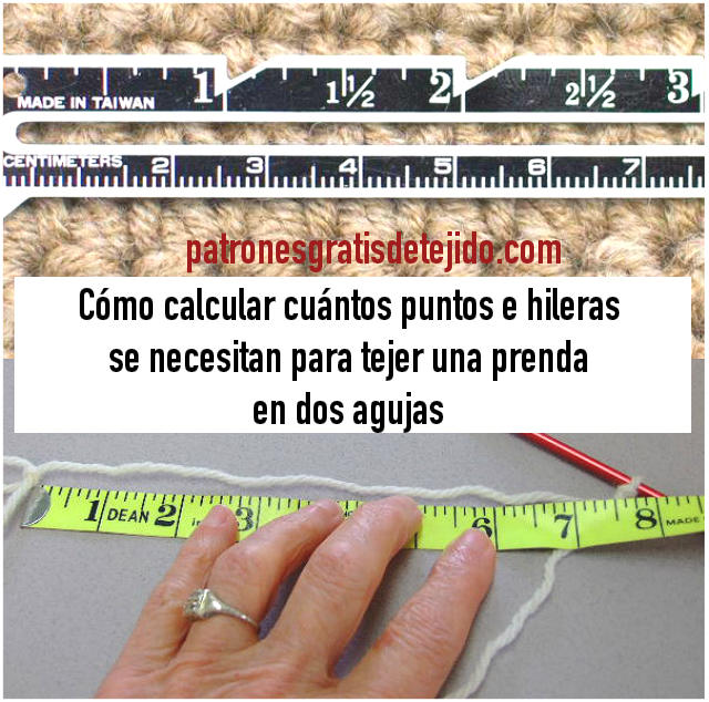 calculando puntos para tejer dos agujas