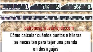 Cómo calcular cuántos puntos e hileras lleva una prenda en dos agujas / Tutorial
