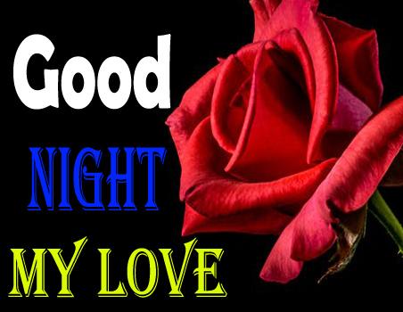 Romantic Love Good Night Flowers for Girlfriend, Boyfriend