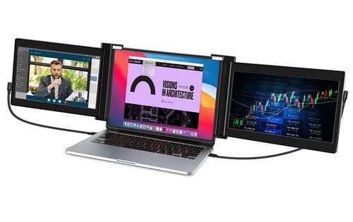 Vodzsla Triple Full HD IPS Portable Monitor