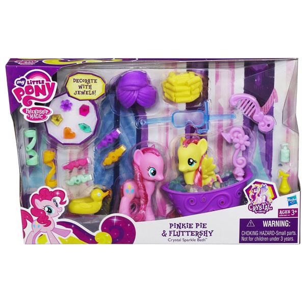 Genial ... My Little Pony Crystal Sparkle Bath Fluttershy Brushable Pony