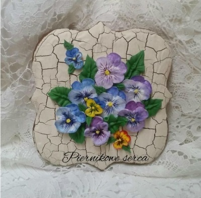 Pansies Cookie.