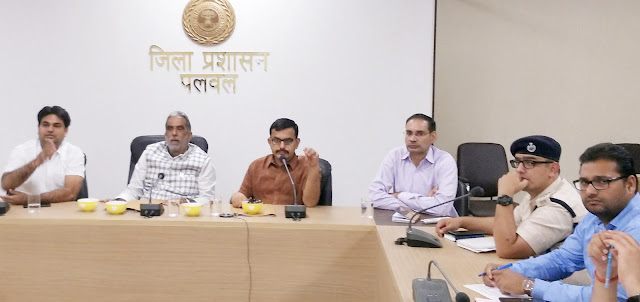Union Minister of State, Mr. Krishnpal Gurjar, meeting with officials of the City Council Hodal