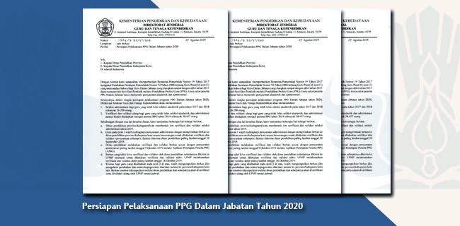 Persiapan Pelaksanaan Pendidikan Profesi Guru (PPG) Dalam Jabatan Tahun 2020