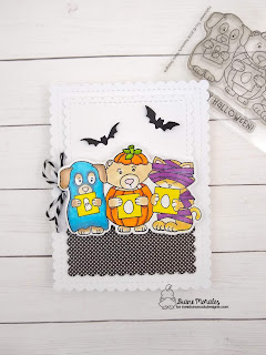 Halloween Fun A card by Diane Morales | Halloween Trio Stamp Set by Newton's Nooks Designs