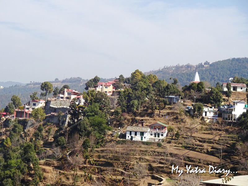 Terraced mountain slopes at Rosewood Dhanachuli Retreat, Uttarakhand