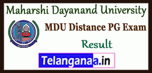 MDU DDE MA M.Sc M.Com Previous Final Result