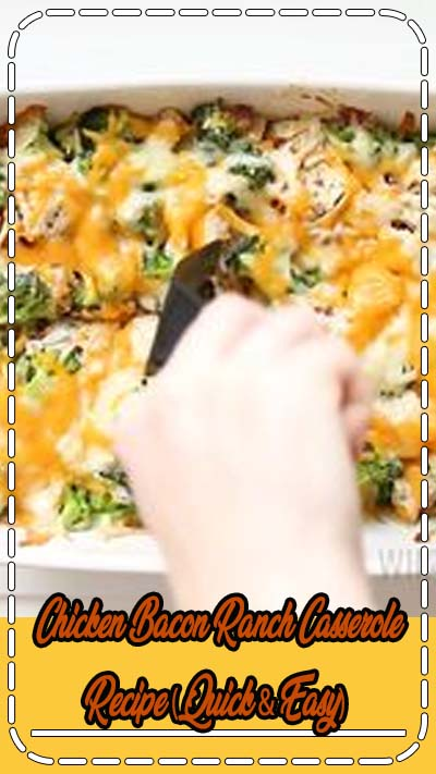 Chicken Bacon Ranch Casserole Recipe (Quick & Easy) – 2 Ways - A low carb, cheesy chicken bacon ranch casserole recipe that the whole family will love. Quick and easy with just 7 common ingredients, 5 minutes prep, and options for 2 ways to make it. #wholesomeyum #keto #lowcarb #dinner #casserole #chicken #glutenfree
