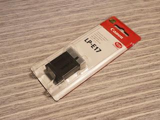 キヤノン バッテリーパック LP–E17 パッケージ表
