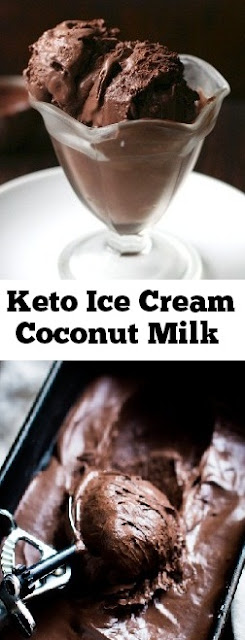 Keto Ice Cream Coconut Milk #keto #icecream #coconutmilk #ketodesserts #lowcarb