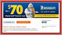 michelin tire rebate december 2014