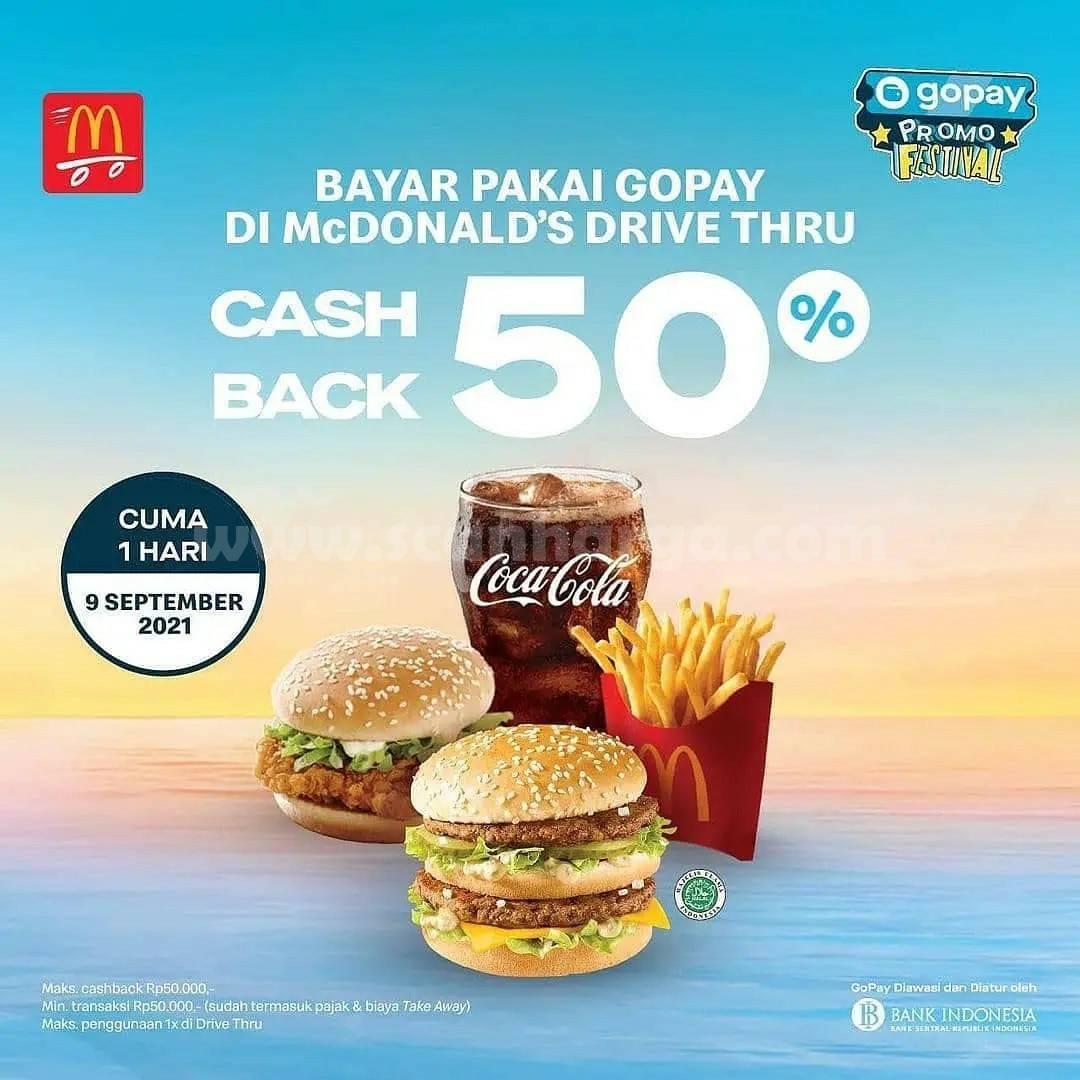 McDonalds Promo Cashback 50% dengan GOPAY* [9 September 2021]