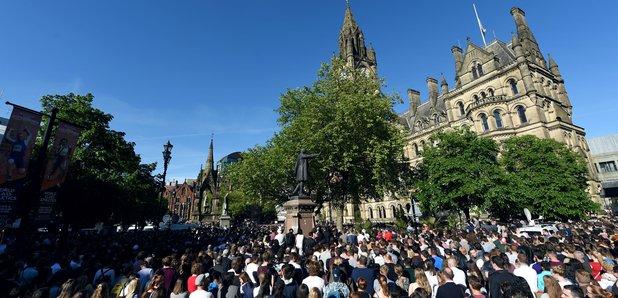 Manchester vigil for Ariana Grande terrorist attack