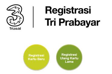 Cara Registrasi Ulang Kartu 3 (TRI) Terbaru Ke 4444
