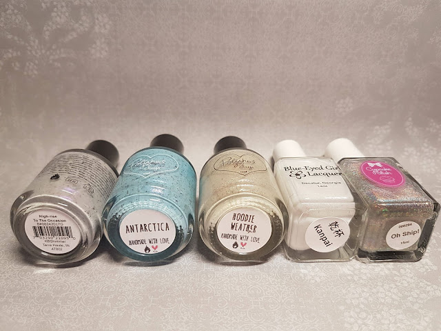mani, base, indie polish, flakies, glitter, snow