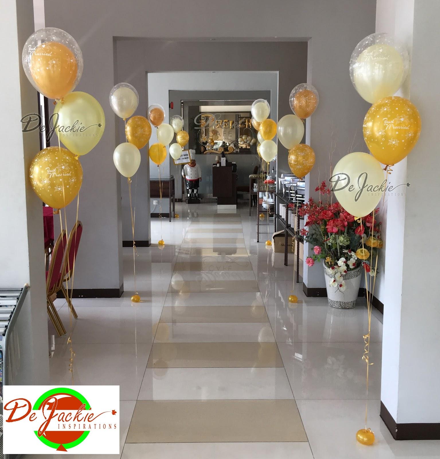 Balloon decorations for weddings birthday parties balloon gold ivory theme wedding decoration kuching dorset boutique hotel junglespirit Choice Image