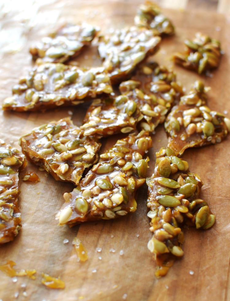 Crocante o brittle de semillas con sal marina
