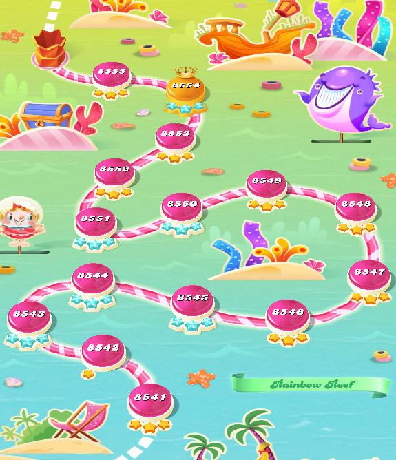 Candy Crush Saga level 8541-8555