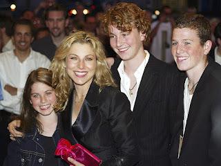 John McEnroe's Ex-wife Tatum O'Neal  with kids