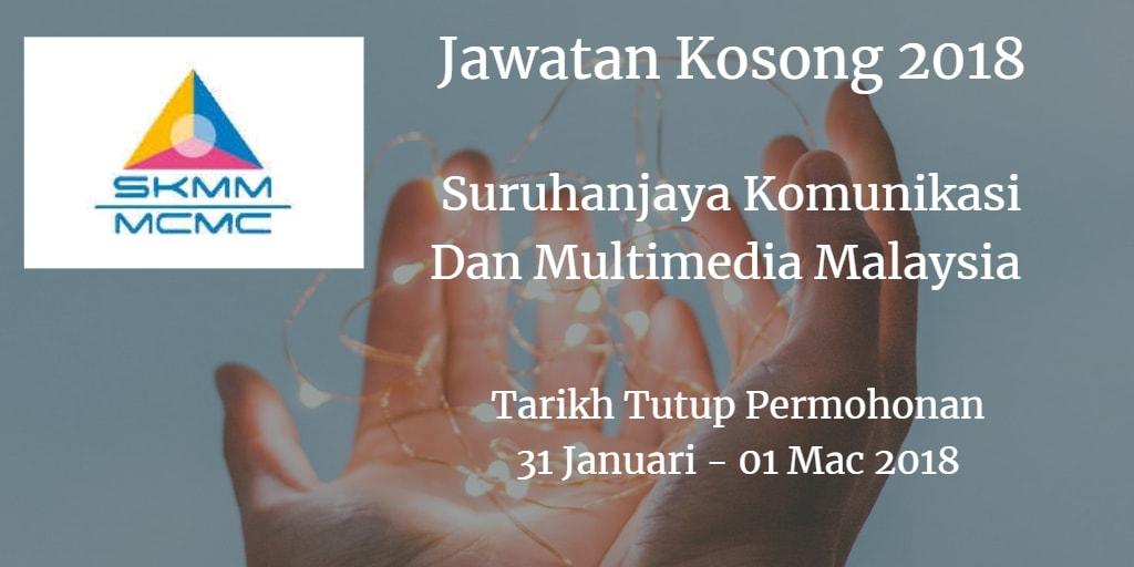 Jawatan Kosong MCMC 31 Januari - 01 Mac 2018