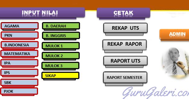 Aplikasi Raport Uts Sd Smp Sma Ktsp Amp Kurikulum 2013 Tahun 2016 2017 Guru Galeri