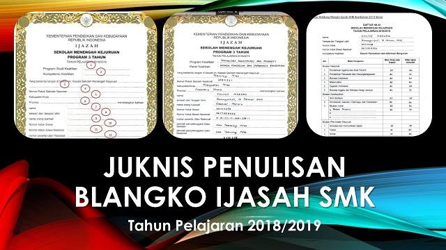 Download Juknis Pengisian Ijazah SMK 2018/2019