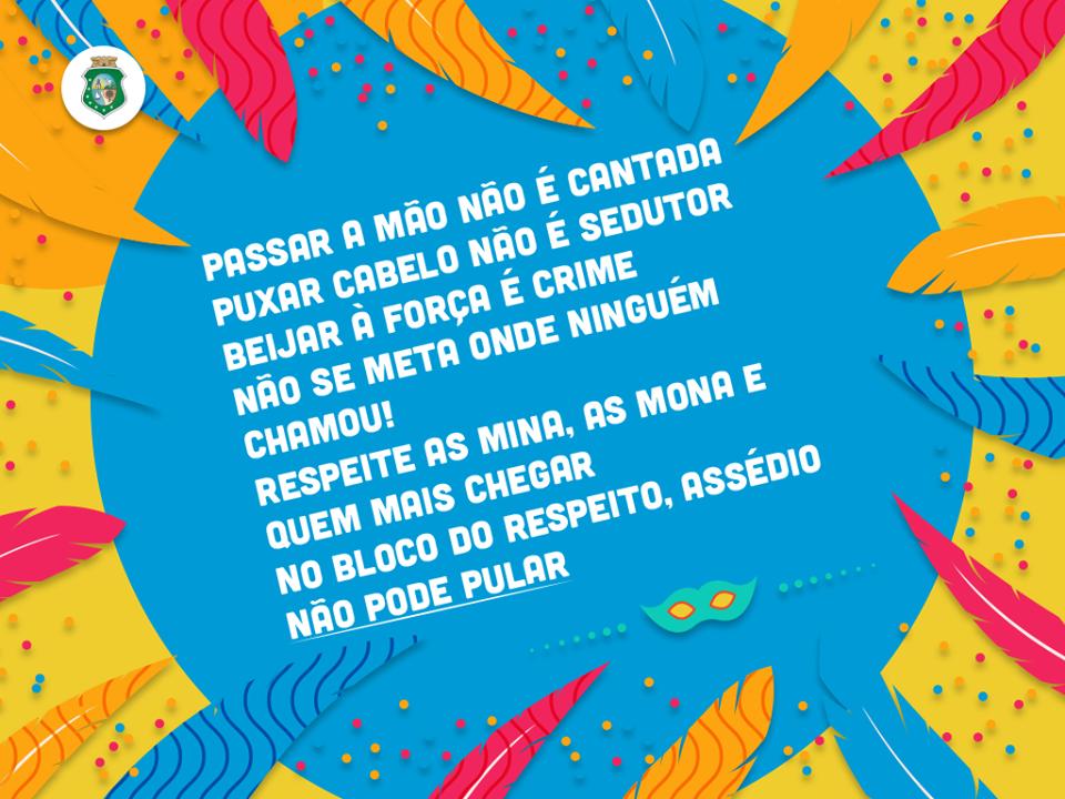 ff36c616f6 Governo do Ceará lança Bloco do Respeito
