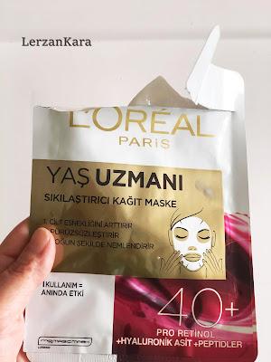 Loreal Paris Yaş Uzmanı Sıkılaştırıcı Kağıt Maske
