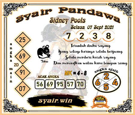 Syair Pandawa SDY Selasa 07-09-2021