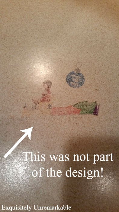 This was not part of the original design text over stain of countertop