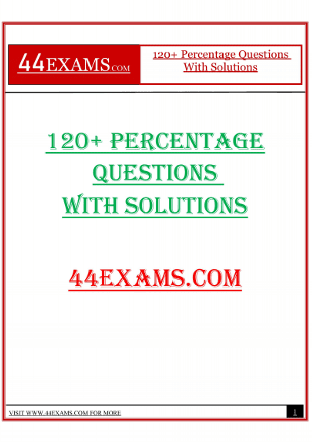 120+-Percentage-Questions-with-Solutions-For-All-Competitive-Exam-PDF-Book